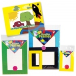 Hygloss Paper Frames Kit: Assorted Colors, 12 Large Frames