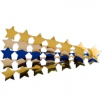 Hygloss Stars Sticker Ribbons: 2 Gold Ribbons, 2 Silver Ribbons, 1 Blue Ribbon, Metallic
