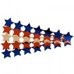 Hygloss Stars Sticker Ribbons: 1 Silver Ribbon, 2 Red Ribbons, 2 Blue Ribbons, Metallic