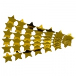 Hygloss Stars Sticker Strips: 5 Gold Strips, Metallic
