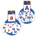 Hygloss Alphabet Flash Cards: 30 A-Z Lower Case Letters Vowels in Red, Consonants in Blue + 4 Blank Cards