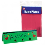 Hygloss Mighty Brights Tag Name Plates: 100 Name Plates