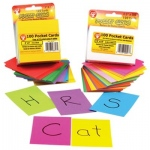 "Hygloss Pocket Cards: 8 each of 12 Colors + 4 White, 2.5"" x 3.5"""