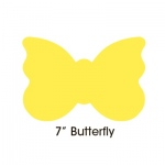 "Hygloss Bright Shapes: Assorted Colors, 7"" Butterfly"
