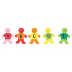 "Hygloss Classroom Accents: Alphabet Kids, 7"", 30 Pieces"