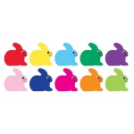 "Hygloss Classroom Accents: 10 Colors, Bunny Accents, 7"", 30 Pieces"