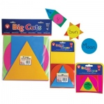 "Hygloss Geometric Shapes: 10 each Assorted Colors, 9"", 40 Shapes"