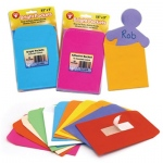 "Hygloss Mighty Bright Pockets: 3 each of 10 Colors, 3.5"" x 5"", Quantity of 30, Self-Adhesive"