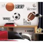 RoomMates All Star Sports Sayings Wall Decals