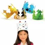 Hygloss Paper Crowns: 4 Assorted Colors, 24 Bright Tag