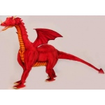 "Hansa® Toys Ride-On Red Dragon: 46"" H"