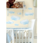 RoomMates Blue Clouds Wall Decals
