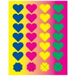 Hygloss Heart Shapes Sticker Forms: 25 Sheets