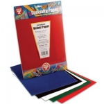 "Hygloss Velour Paper Packages: 1 each of 10 Assorted Colors, 8.5"" x 11"""