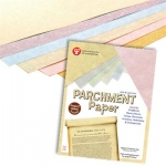 "Hygloss Parchment Paper: Assorted, 8.5"" x 11"", 100 Sheets"