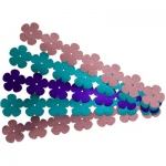 Hygloss Flowers Sticker Ribbons: 2 Blue, 2 Pink, 1 Purple, Embossed