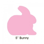 "Hygloss Bright Shapes: Assorted Colors, 5"" Bunny"