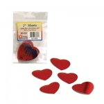 "Hygloss Metallic Paper Heart Shapes: Red, 2.5"", 72 Pieces"