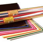 Hygloss Super Glossy Paper: 15 Assorted Colors, Rolled