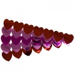 Hygloss Hearts Sticker Ribbons: 2 Red Ribbons, 2 Pink Ribbons, 1 Magenta Ribbons, Metallic