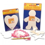 "Hygloss Sticky Board Shapes: 6"", 24 Hearts"