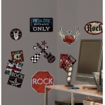RoomMates Boys Rock 'n' Roll Wall Decals