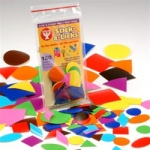 "Hygloss Stick-A-Licks: 1"", 150 Squares, Circles, Triangles"