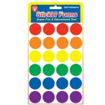 "Hygloss Colored 1"" Circles: 3 Sheets"