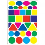 Hygloss Geometric Shapes Sticker Forms: 25 Sheets