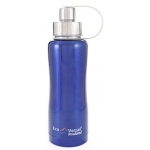 "Eyla's ""Boulder"" Triple Insulated Bottle with Screw Top: Blue Glow, 25oz/750ml"