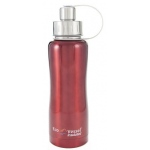"Eyla's ""Boulder"" Triple Insulated Bottle with Screw Top: Red Glow, 25oz/750ml"