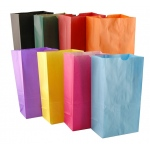 Hygloss Gusseted Bags: Assorted Colors, Size 4#, 100 Bags