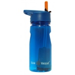 Eyla's Aqua Vessel Ultra Lite Tritan Filtration Bottle: Hudson Blue, 17oz