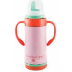 "Eyla's ""The Insulated Sippy"" Stainless Steel Bottle with NUK Spout: Ava Pink, 10oz/295ml"