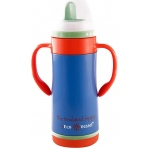 "Eyla's ""The Insulated Sippy"" Stainless Steel Bottle with NUK Spout: Hudson Blue, 10oz/295ml"