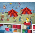 RoomMates Big Top Circus Extra Large Wallpaper Mural 10.5' x 6'