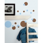 RoomMates Blue & Brown Dots Wall Decals