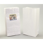 "Hygloss Gusseted Bags: White, 4#, 5"" x 3"" x 9.75"", 100 Bags"