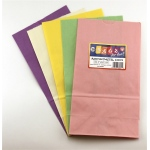 "Hygloss Gusseted Bags: Pink, 6#, 6"" x 3.5"" x 11"", 50 Bags"