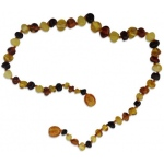 Eyla's Baltic Healing Amber Necklace: Multi, 18""
