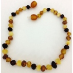 Eyla's Raw Baltic Amber Necklace: Multi, 12""