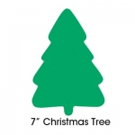 "Hygloss Bright Shapes: 7"" Christmas Tree Green"