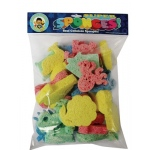 Hygloss Captain Creative Sponges: Assorted Colored, Big Bag of Sponges, 30 Assorted Shapes