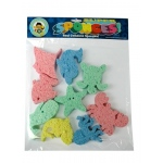 Hygloss Captain Creative Sponges: Assorted Colored Sponges, 9 Sea Life Shapes