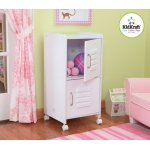 Kidkraft Medium Locker - White: 2 separate storage compartments