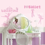 RoomMates Ballet Wall Decals with Glitter