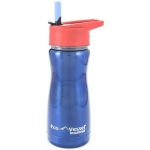 "Eyla's ""Frost"" Kids' Stainless Steel Insulated Bottle with Straw: Blue, Top 13oz/400ml"