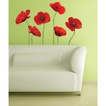 RoomMates Poppies At Play Giant Wall Decals