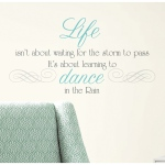 RoomMates Dance in the Rain Quote Wall Decals