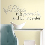 RoomMates Bless This Home Quote Wall Decals